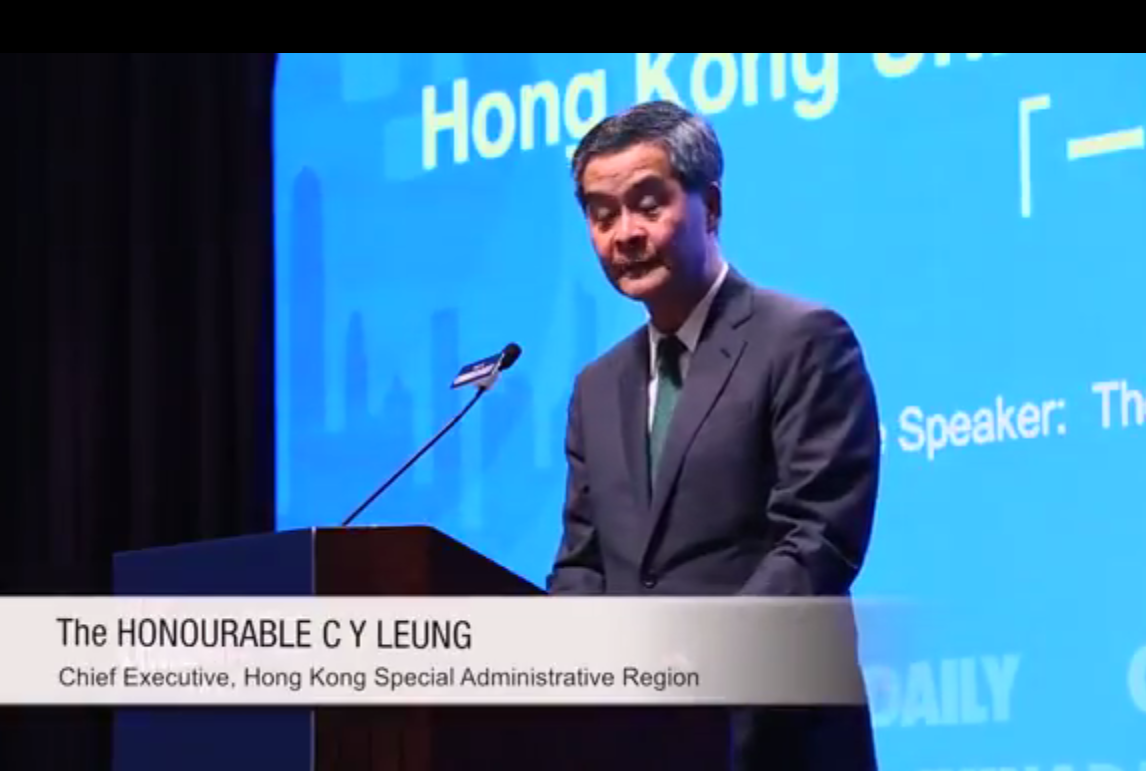 20151029 Hong Kong Unleashing the Potential of Belt and Road Initiative