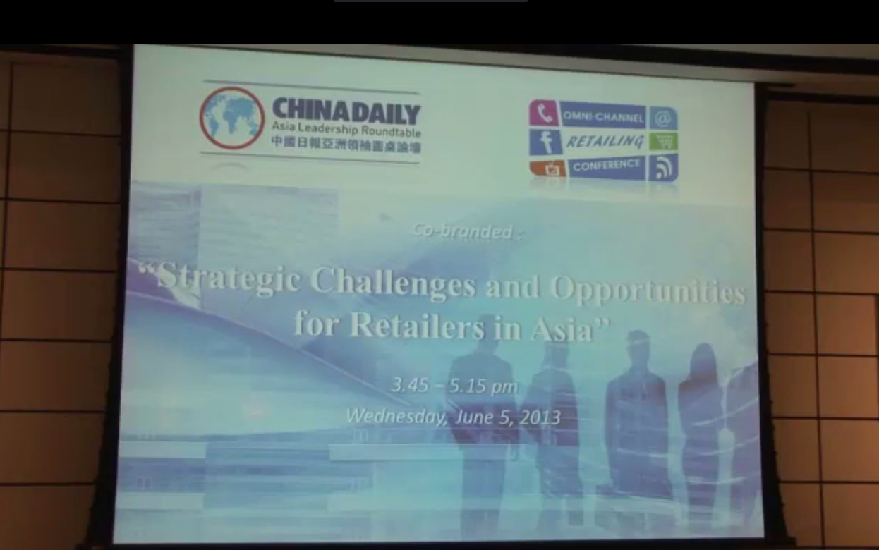 20130605 Retail: Strategic Challenges and Opportunities for Retailers in Asia